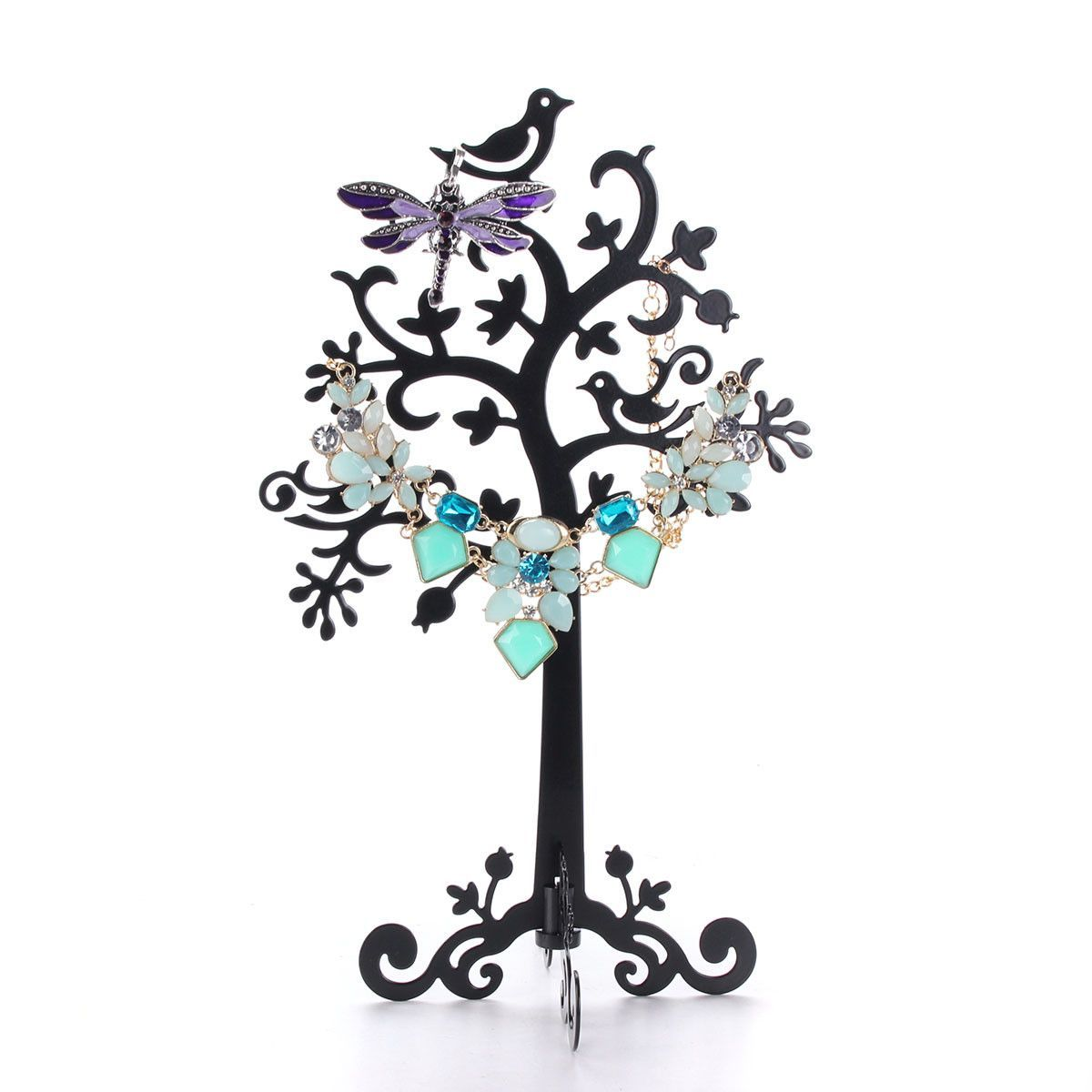 2016-New-Metal-Jewelry-Earring-Ring-Tree-Shaped-Display-Stand-Holder-Decorative-Beautify-Supplies-Black-or_1