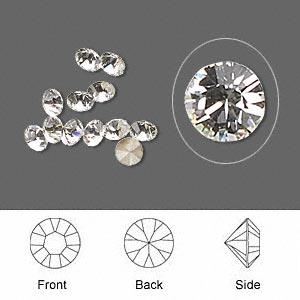 Chaton-Swarovskireg-crystal-rhinestone-crystal-clear-foil-back-4-41mm----p4833cyb