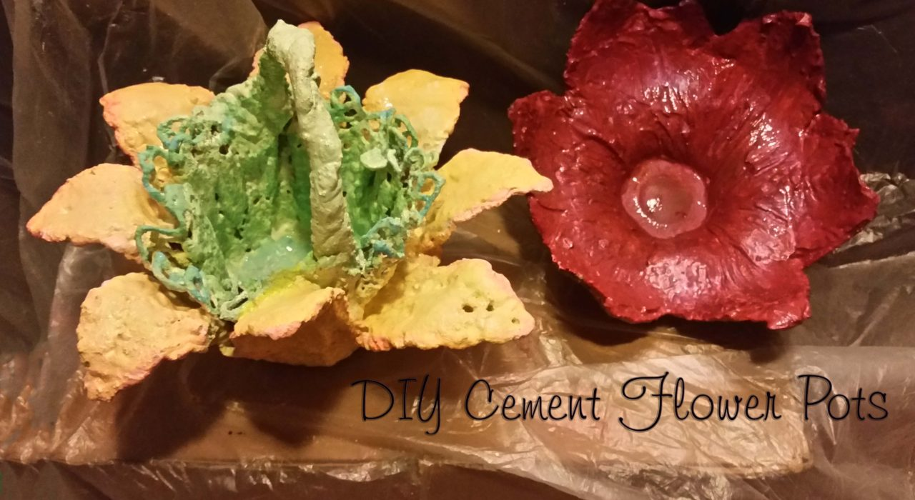 DIY Cement Flower Pots
