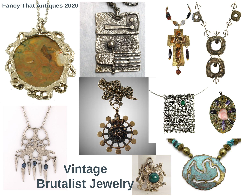 Vintage Brutalist Jewelry